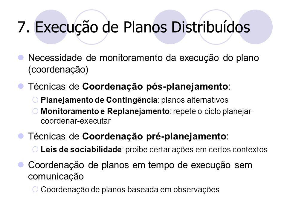 7. Execução de Planos Distribuídos