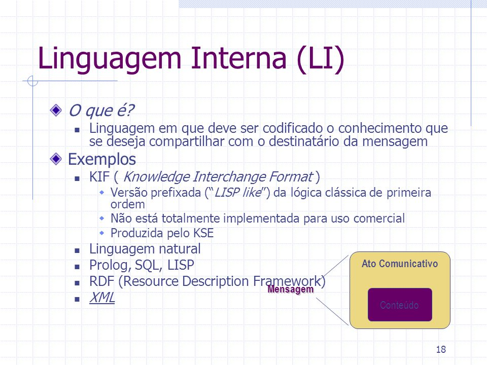 Linguagem Interna (LI)