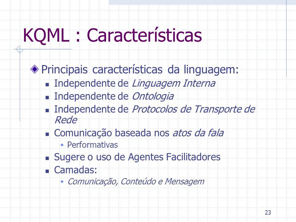 KQML : Características