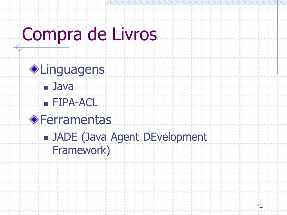 Compra de Livros Linguagens Ferramentas Java FIPA-ACL