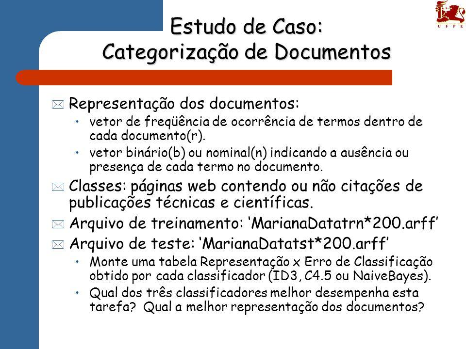 Estudo de Caso: Categorização de Documentos