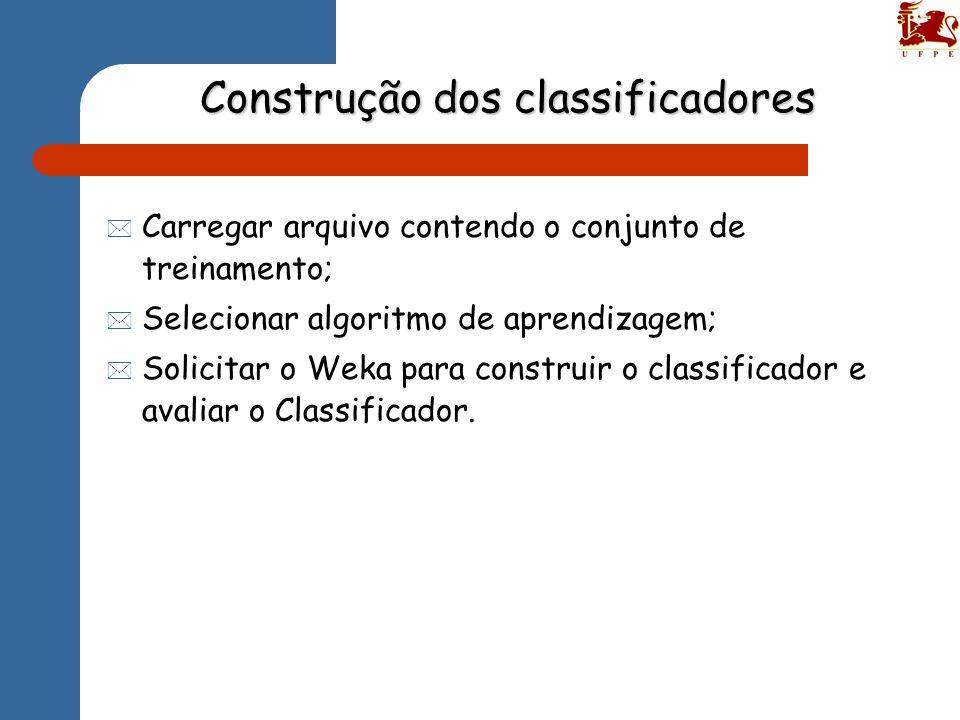 Construção dos classificadores