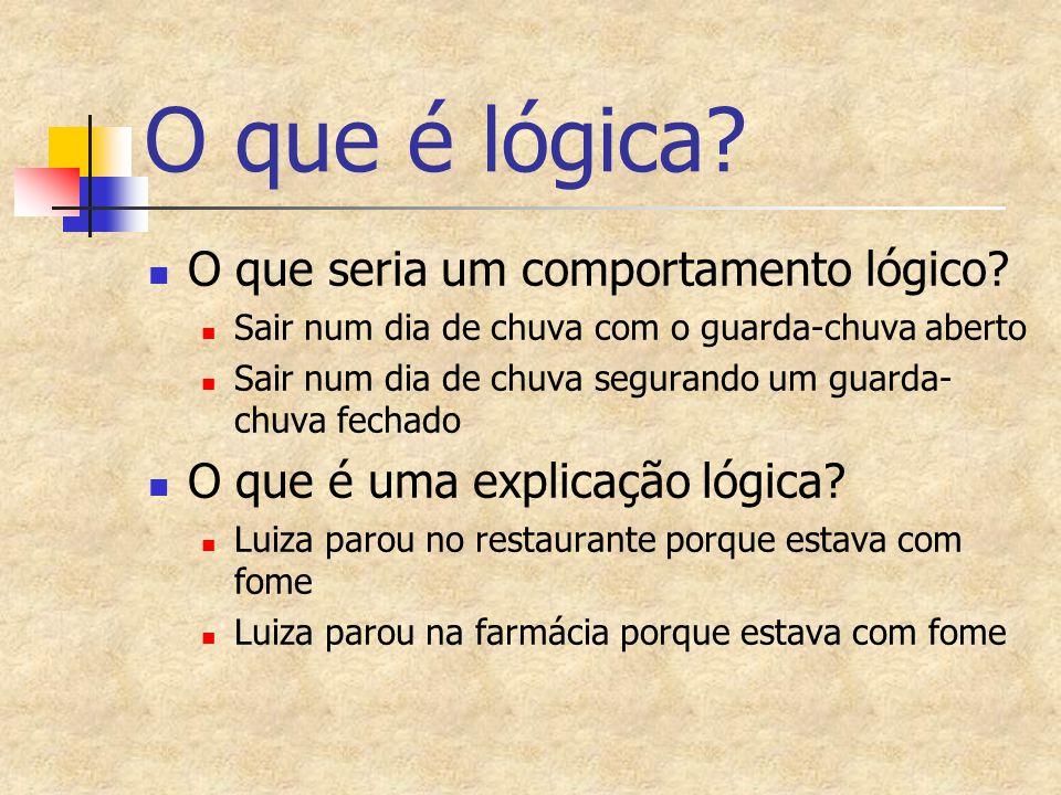 O que é lógica O que seria um comportamento lógico