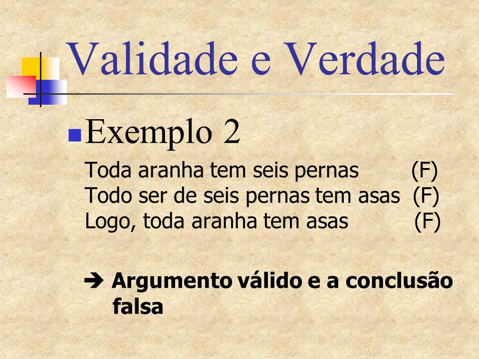 Validade e Verdade Exemplo 2