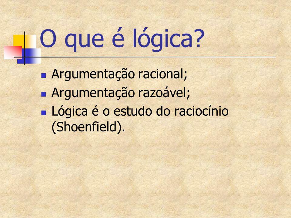 O que é lógica Argumentação racional; Argumentação razoável;
