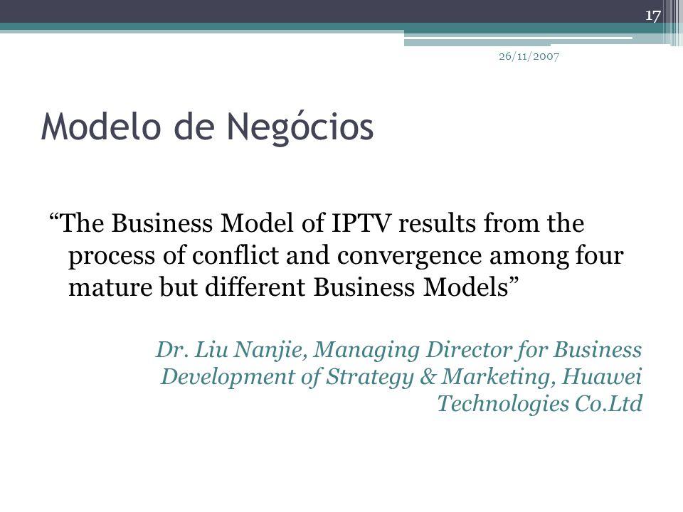 26/11/2007 Modelo de Negócios.