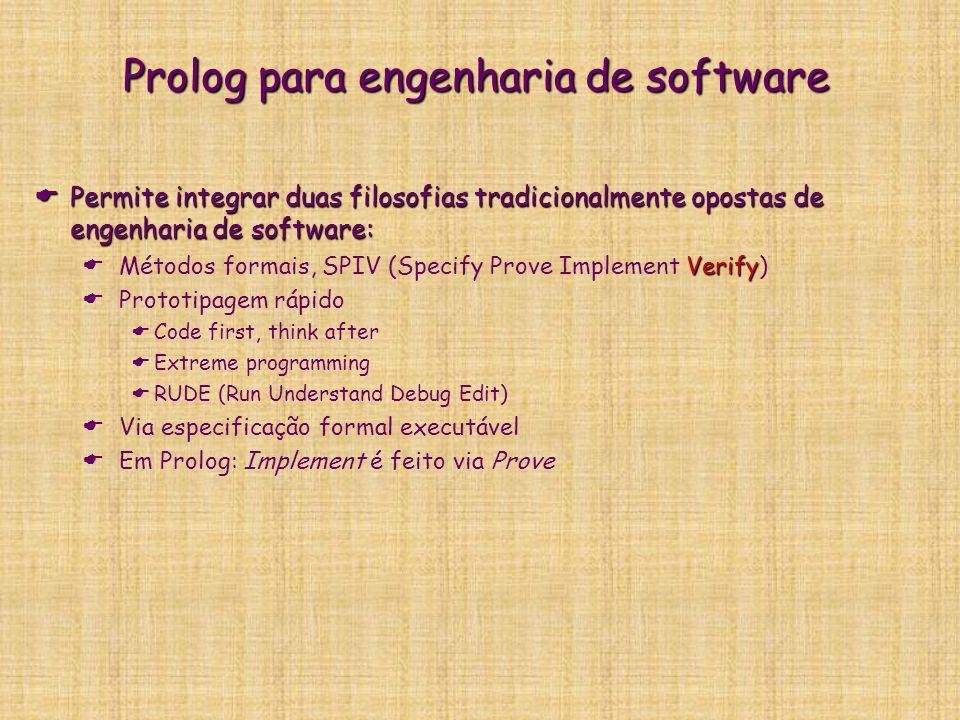 Prolog para engenharia de software