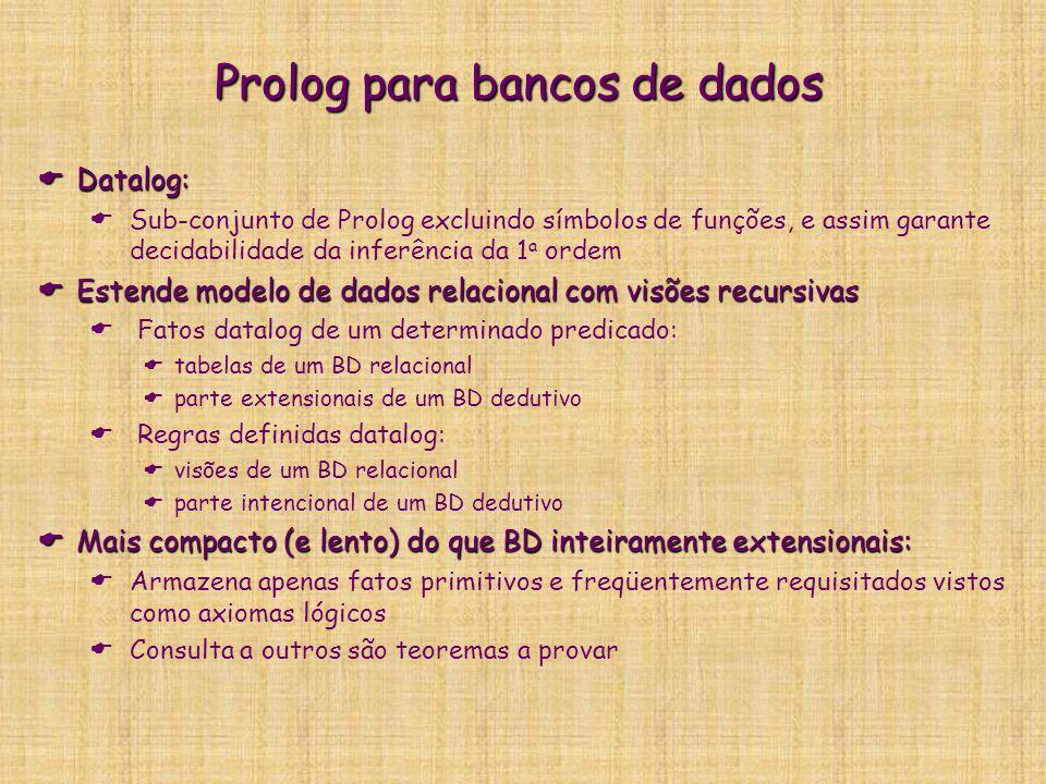 Prolog para bancos de dados