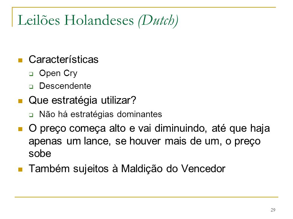 Leilões Holandeses (Dutch)