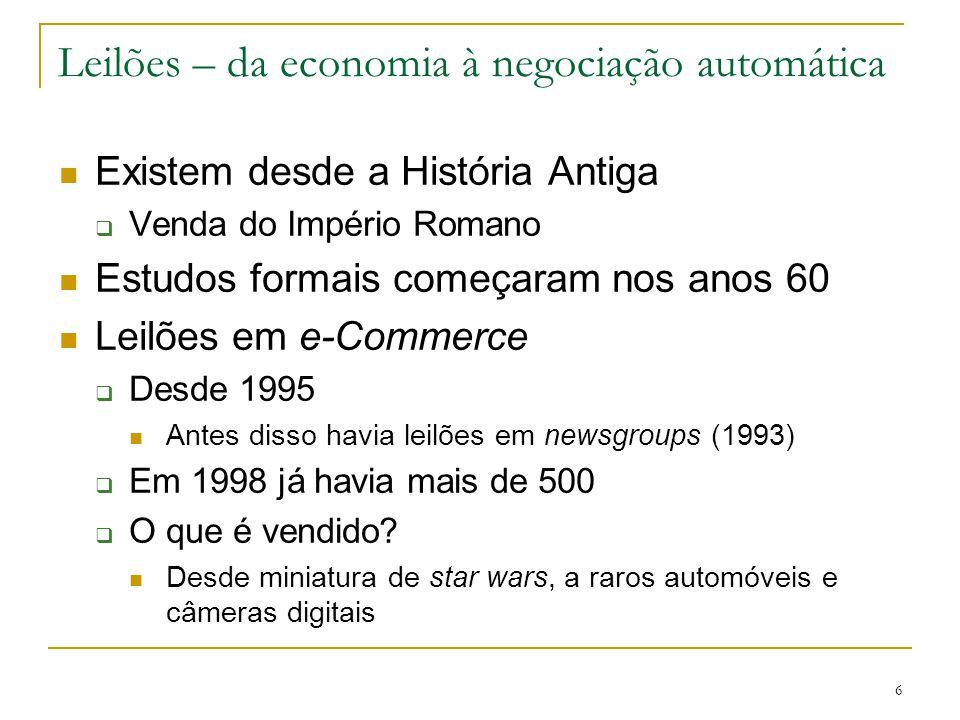 Leilões – da economia à negociação automática