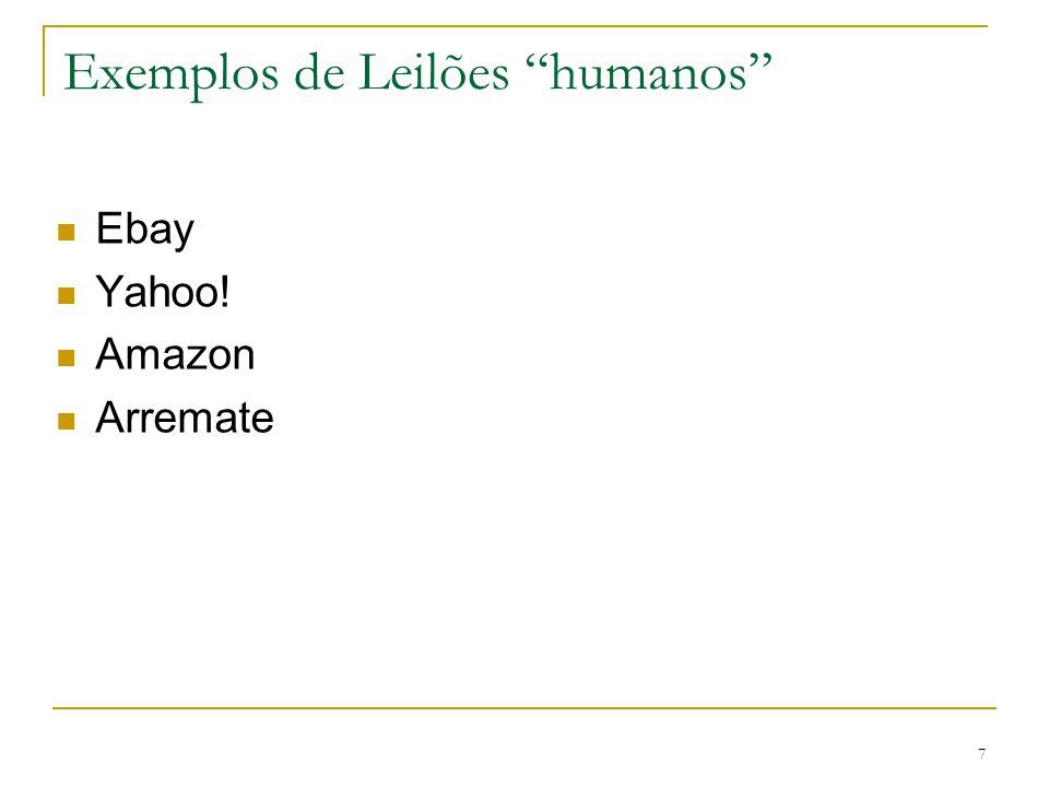 Exemplos de Leilões humanos