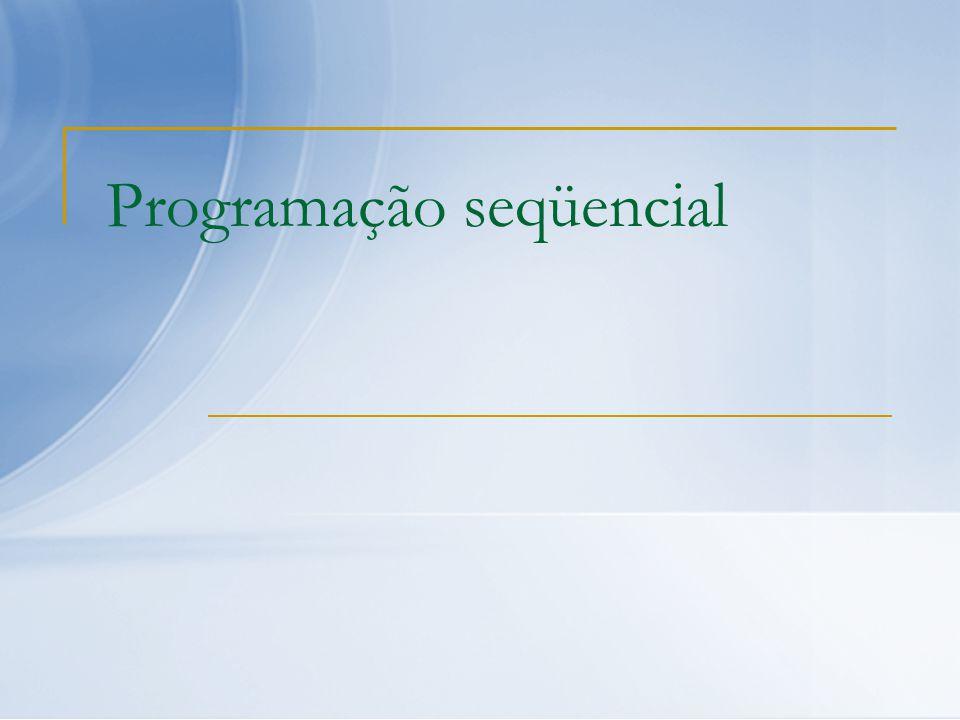 Programação seqüencial
