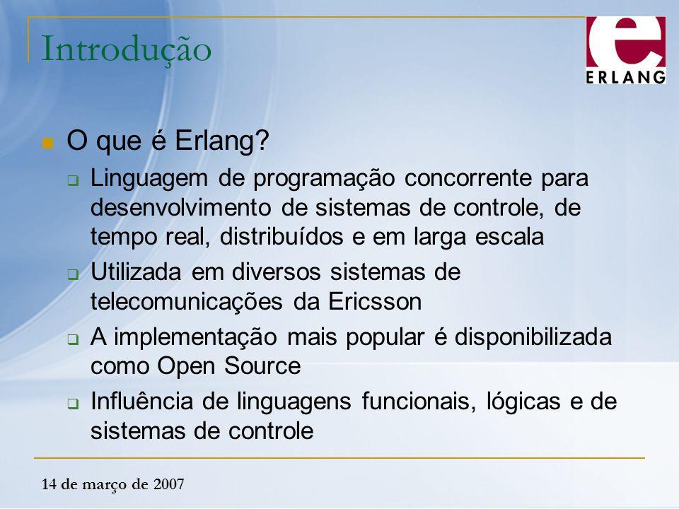 Introdução O que é Erlang