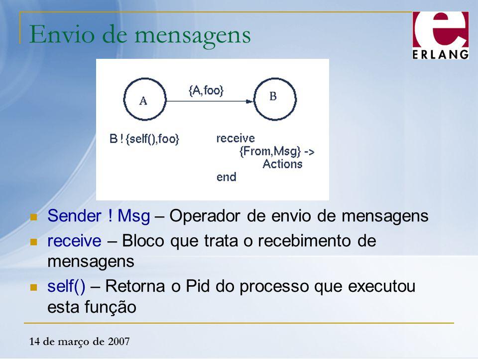Envio de mensagens Sender ! Msg – Operador de envio de mensagens