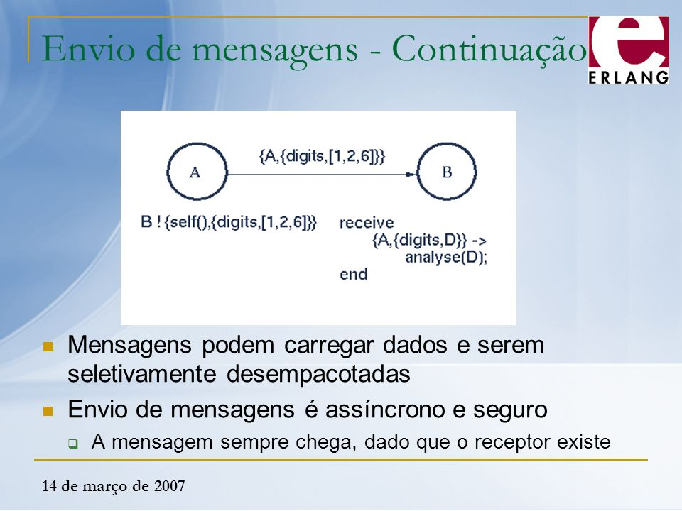 Envio de mensagens - Continuação