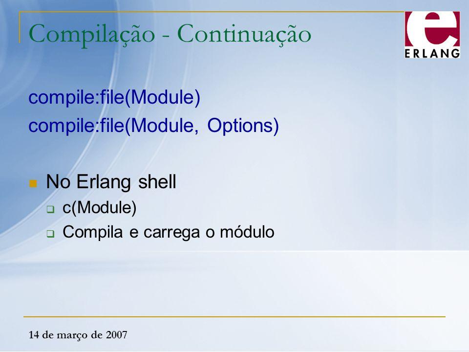 Compilação - Continuação