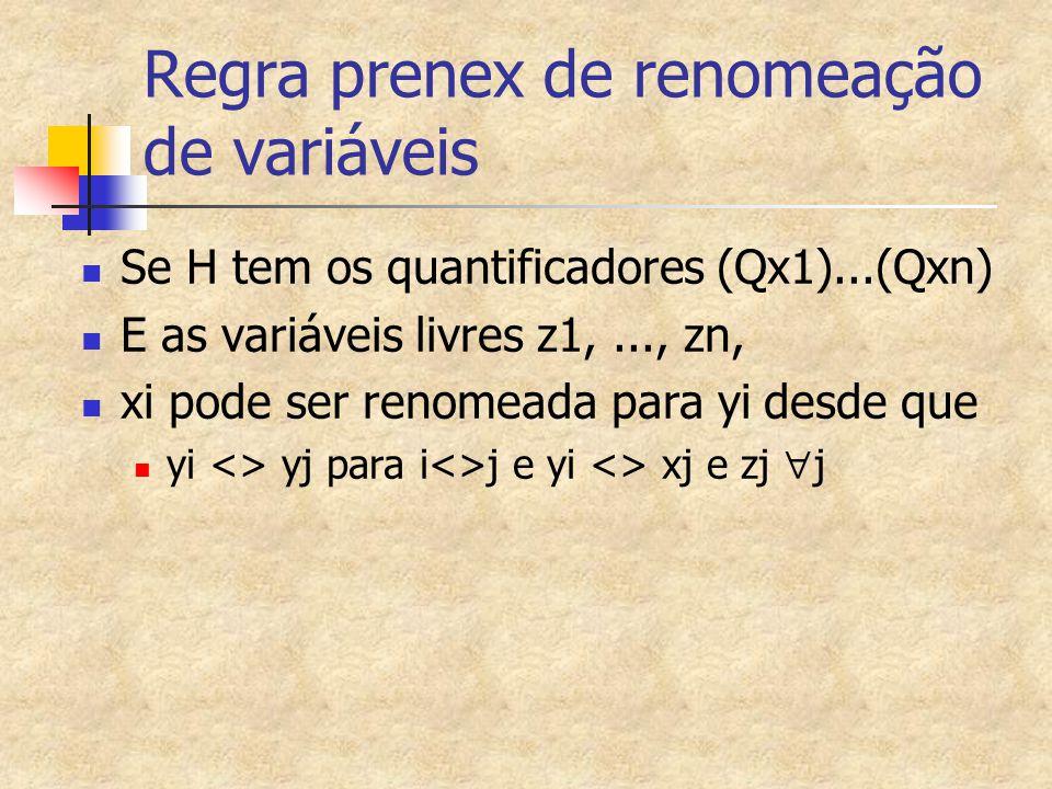 Regra prenex de renomeação de variáveis