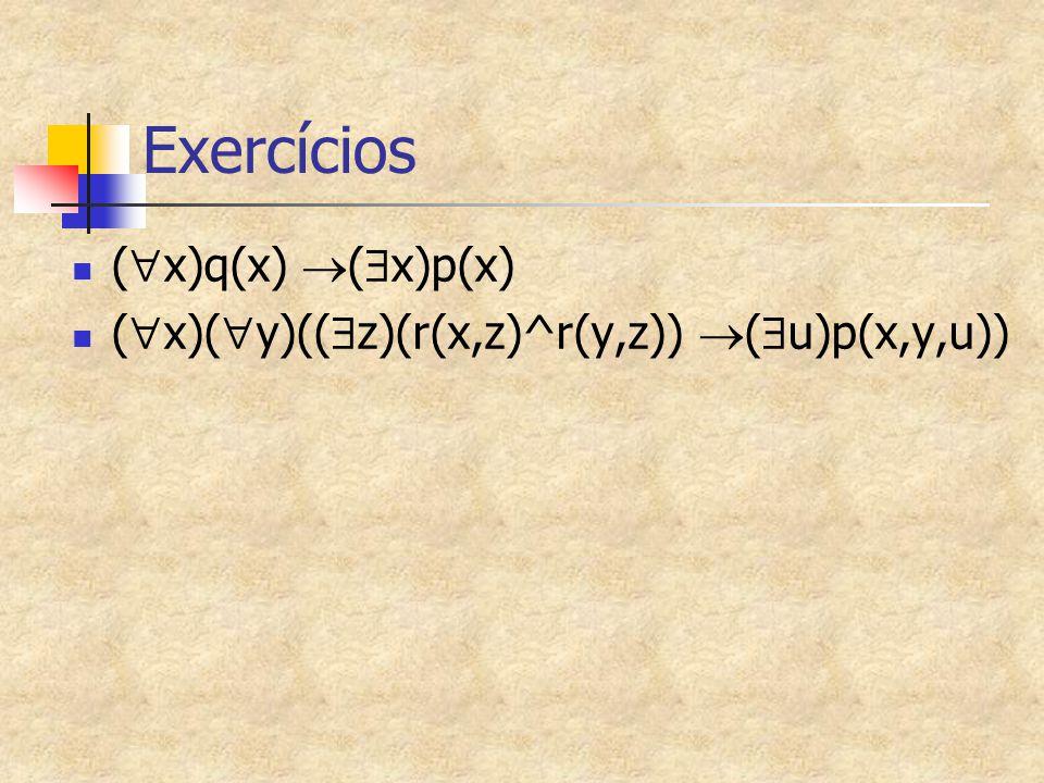 Exercícios (x)q(x) (x)p(x)