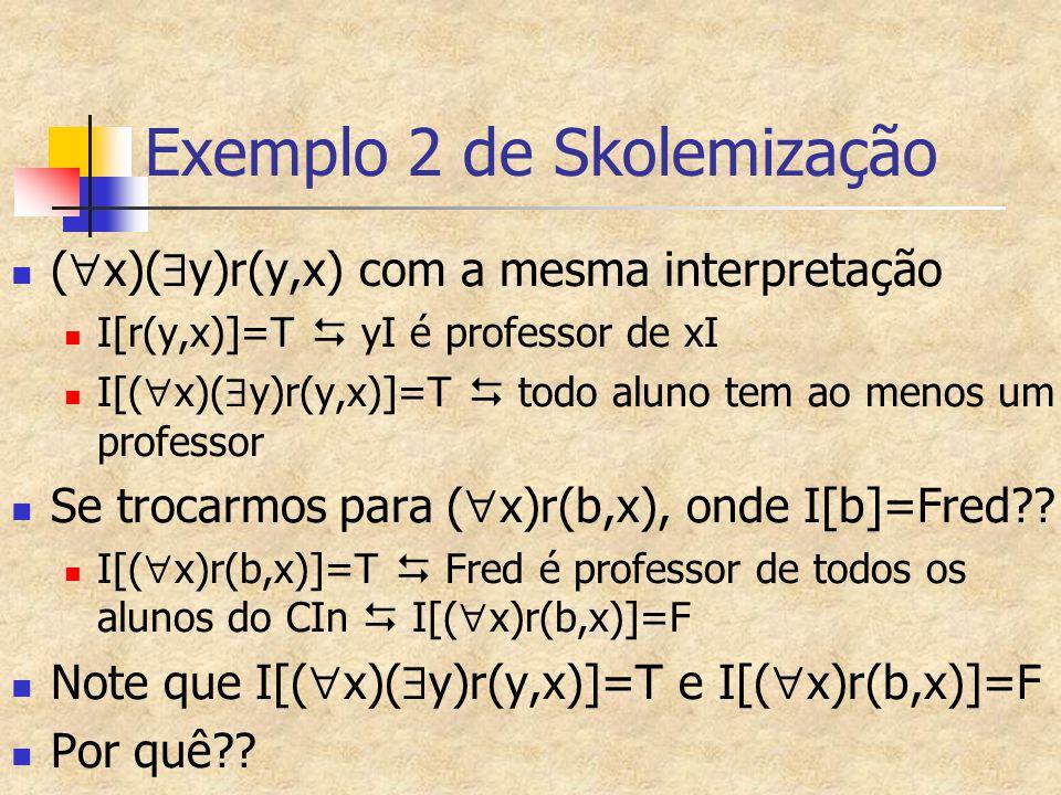 Exemplo 2 de Skolemização