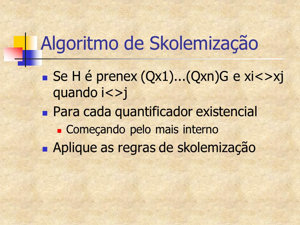 Algoritmo de Skolemização