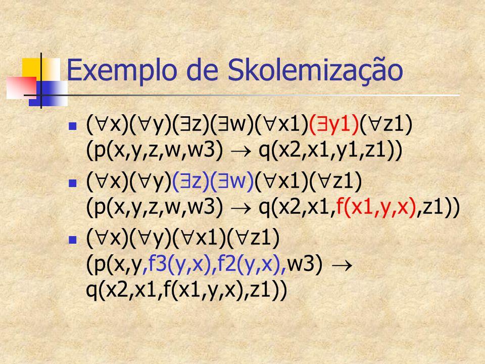 Exemplo de Skolemização
