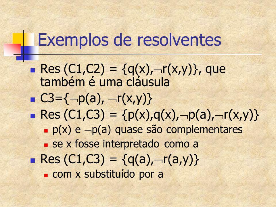 Exemplos de resolventes