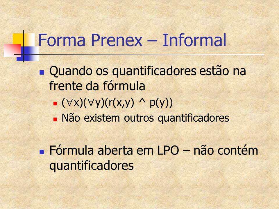 Forma Prenex – Informal