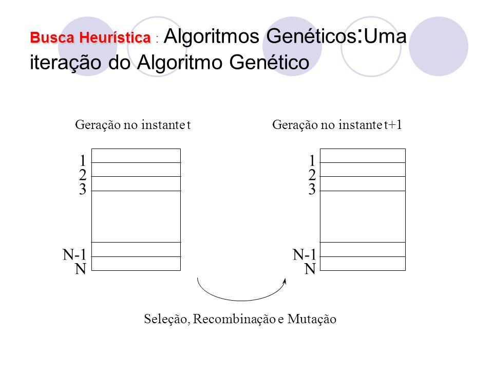 Busca Heurística : Algoritmos Genéticos:Uma iteração do Algoritmo Genético