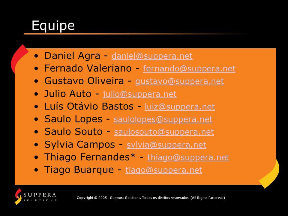 Equipe Daniel Agra - daniel@suppera.net