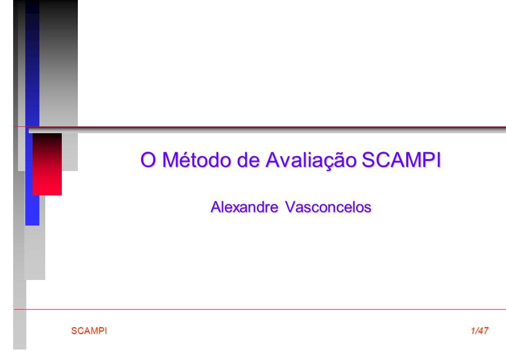 O Método de Avaliação SCAMPI Alexandre Vasconcelos