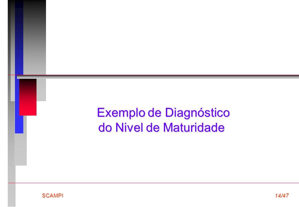 Exemplo de Diagnóstico do Nivel de Maturidade