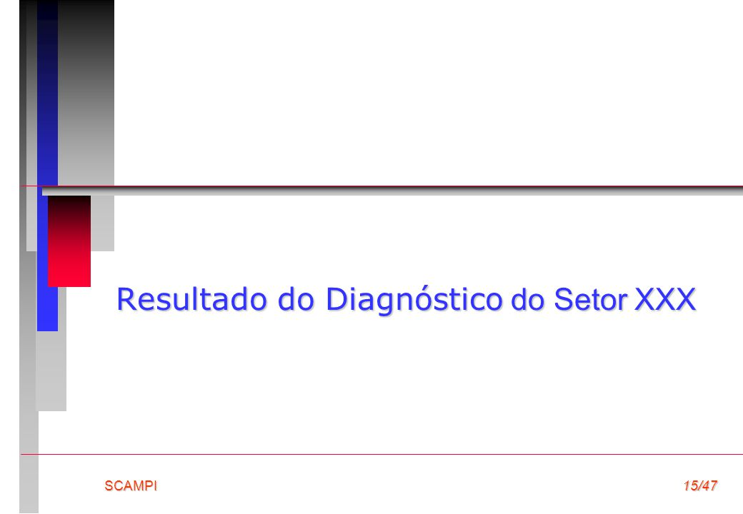 Resultado do Diagnóstico do Setor XXX