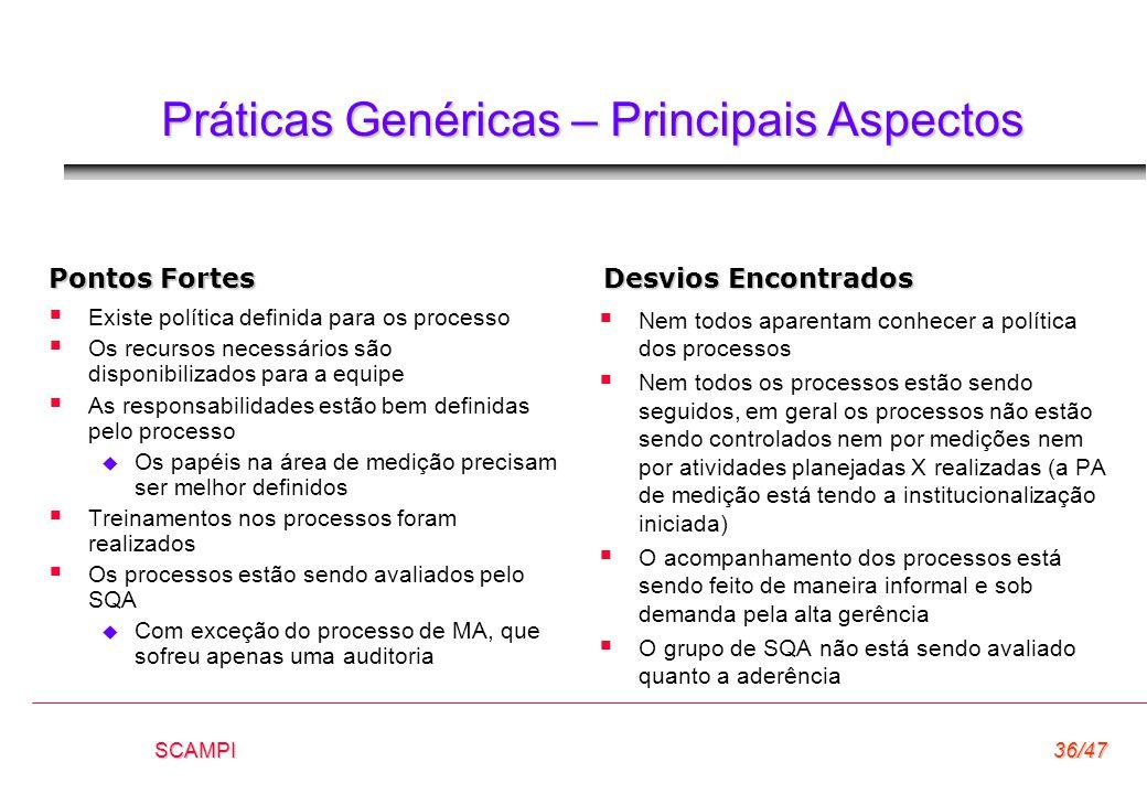 Práticas Genéricas – Principais Aspectos