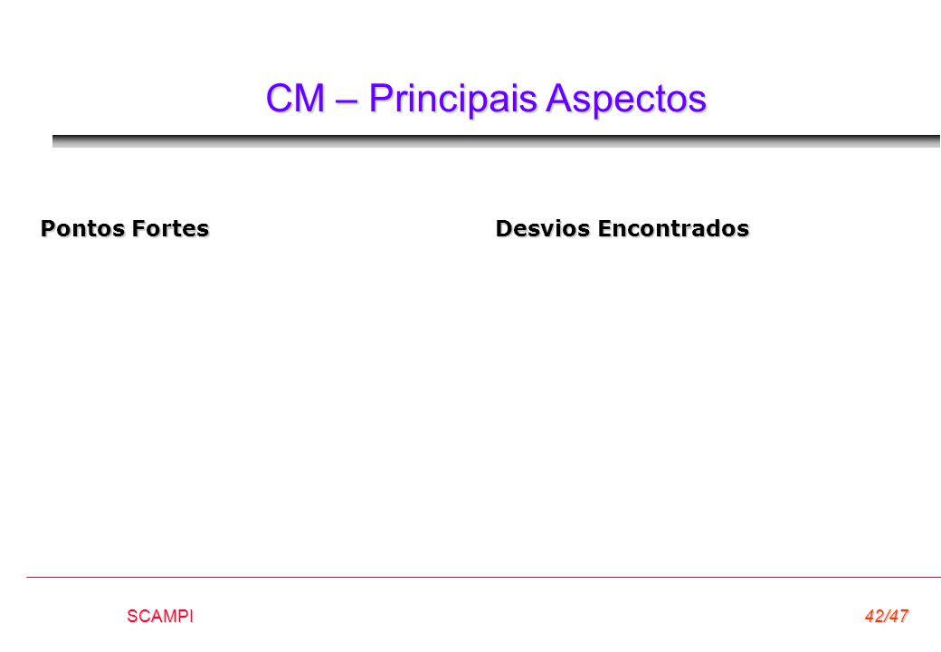 CM – Principais Aspectos