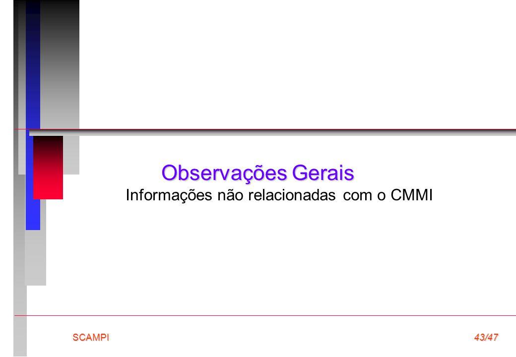 Informações não relacionadas com o CMMI