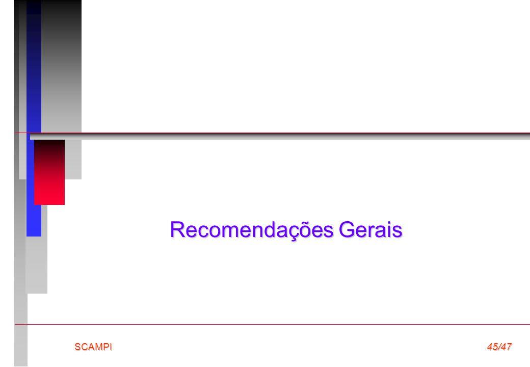 Recomendações Gerais SCAMPI