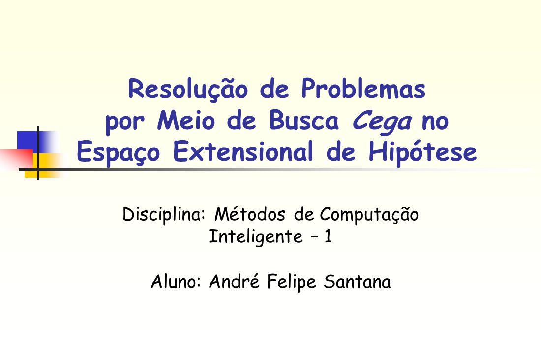 Resolução de Problemas por Meio de Busca Cega no Espaço Extensional de Hipótese