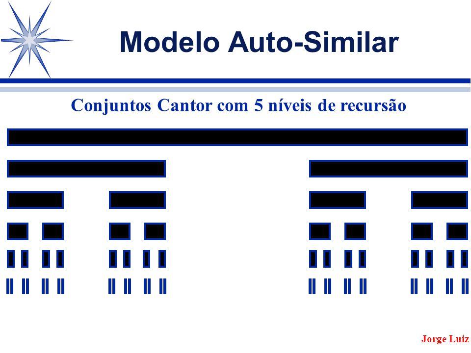 Modelo Auto-Similar Conjuntos Cantor com 5 níveis de recursão