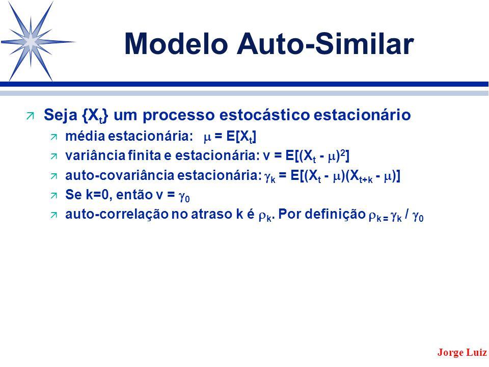 Modelo Auto-Similar Seja {Xt} um processo estocástico estacionário