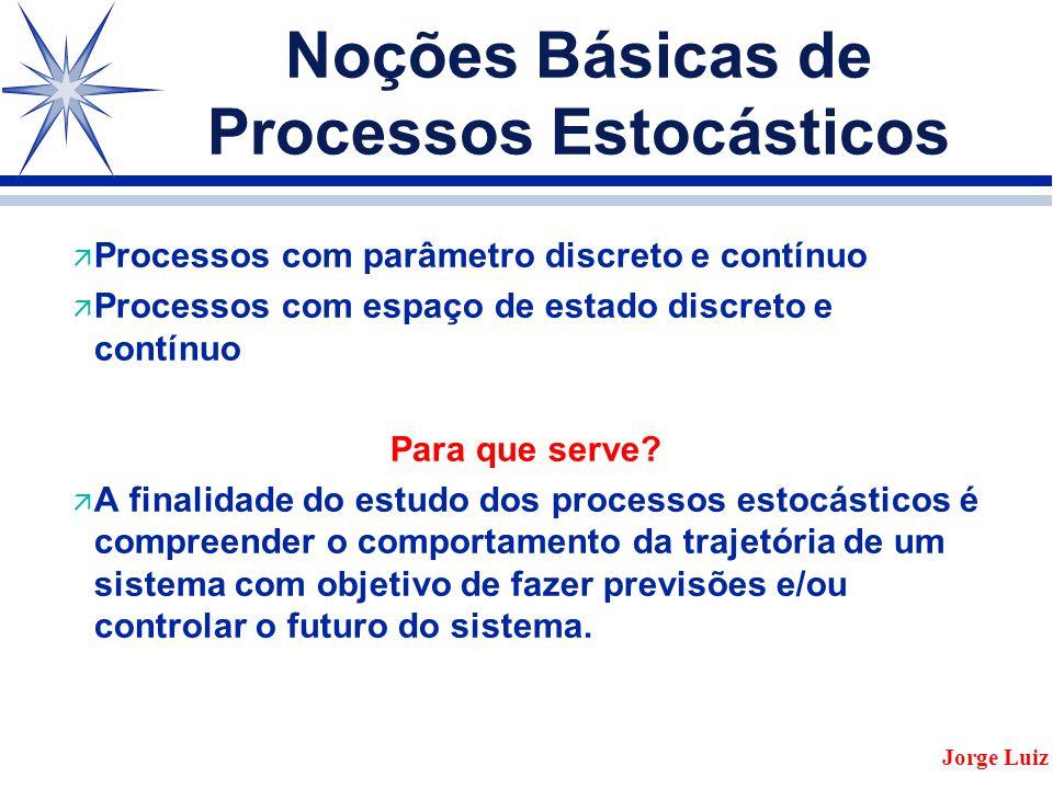 Noções Básicas de Processos Estocásticos