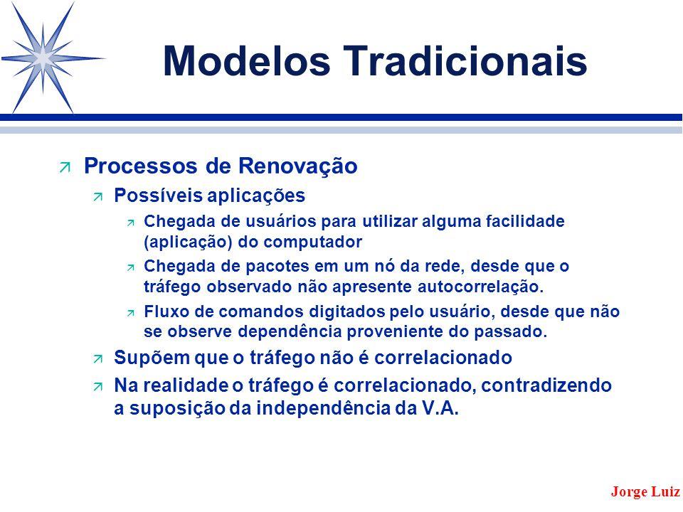 Modelos Tradicionais Processos de Renovação Possíveis aplicações