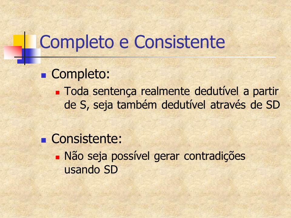 Completo e Consistente
