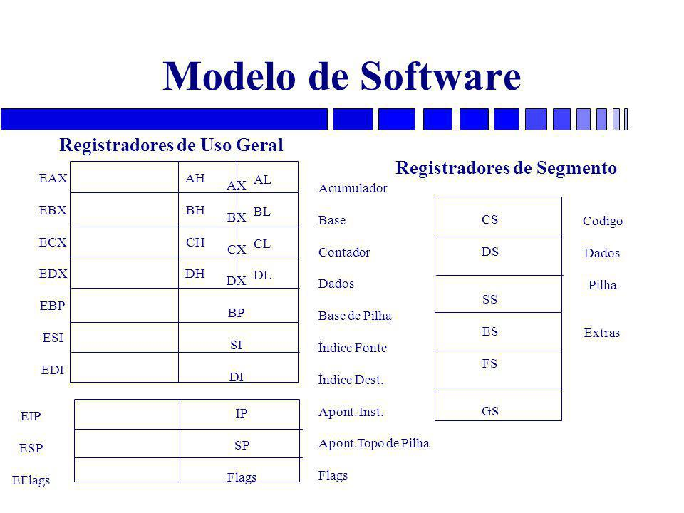 Registradores de Uso Geral Registradores de Segmento