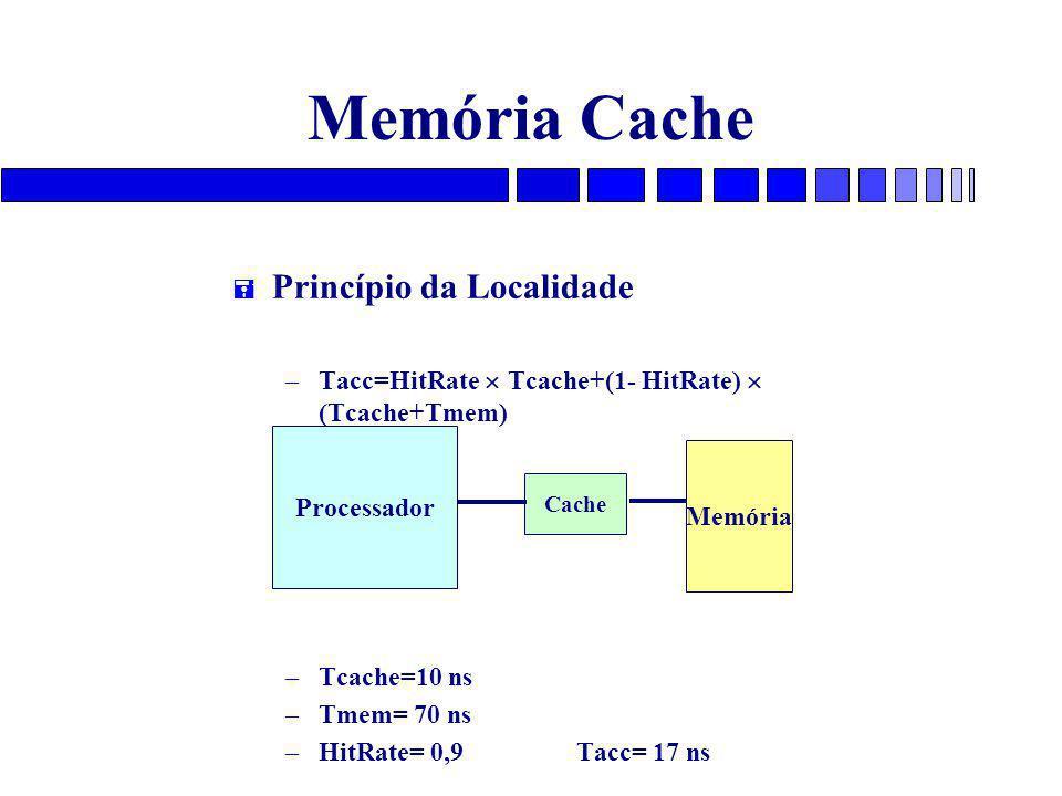 Memória Cache Princípio da Localidade
