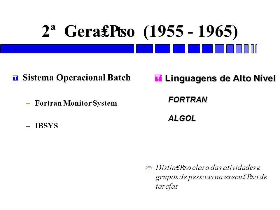 2ª Gera₤₧o (1955 - 1965) Sistema Operacional Batch