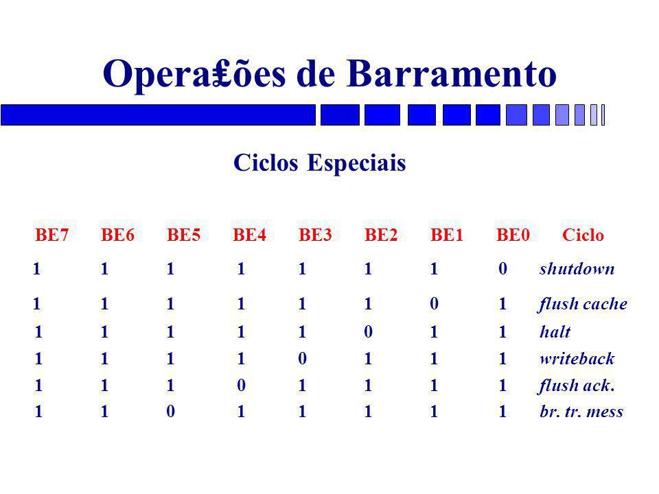 Opera₤ões de Barramento