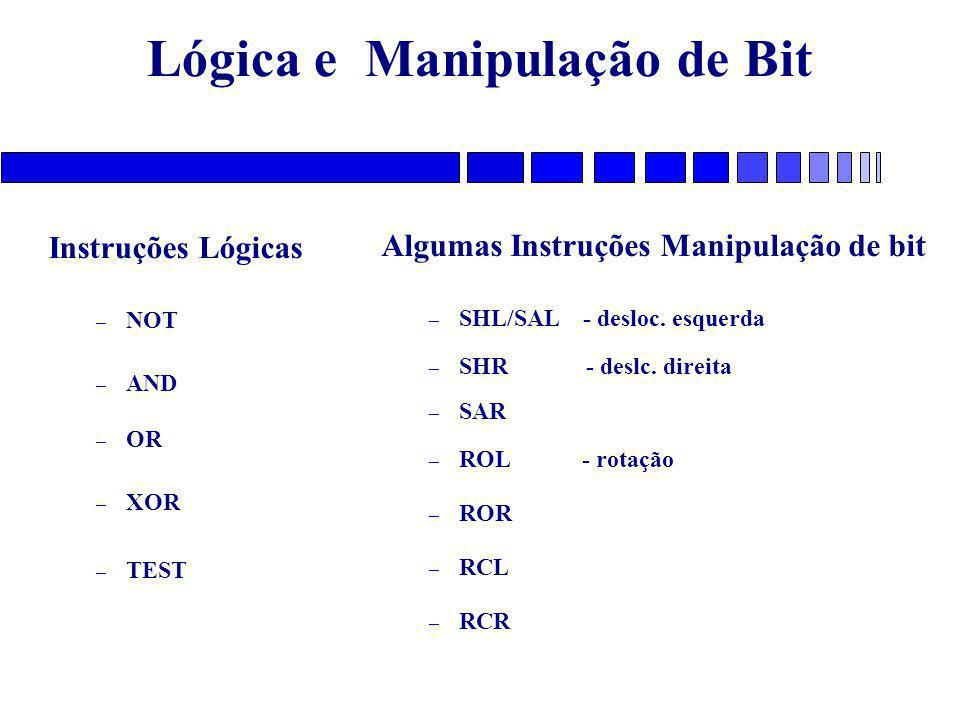 Lógica e Manipulação de Bit