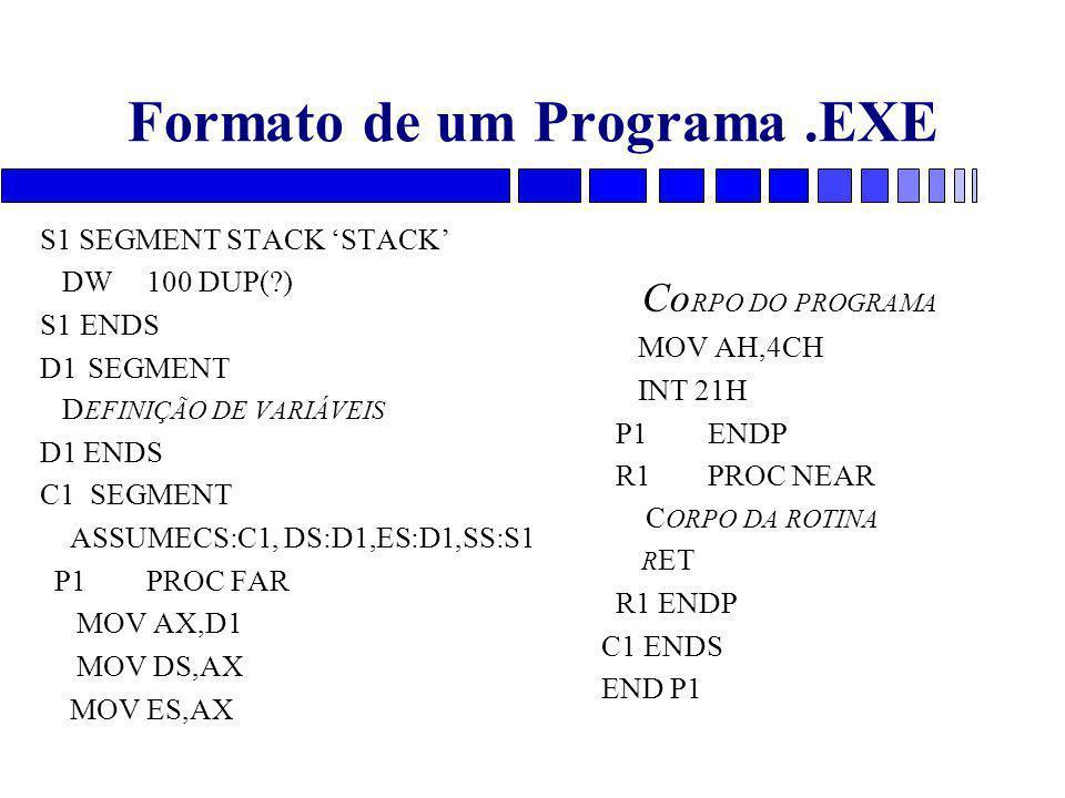 Formato de um Programa .EXE