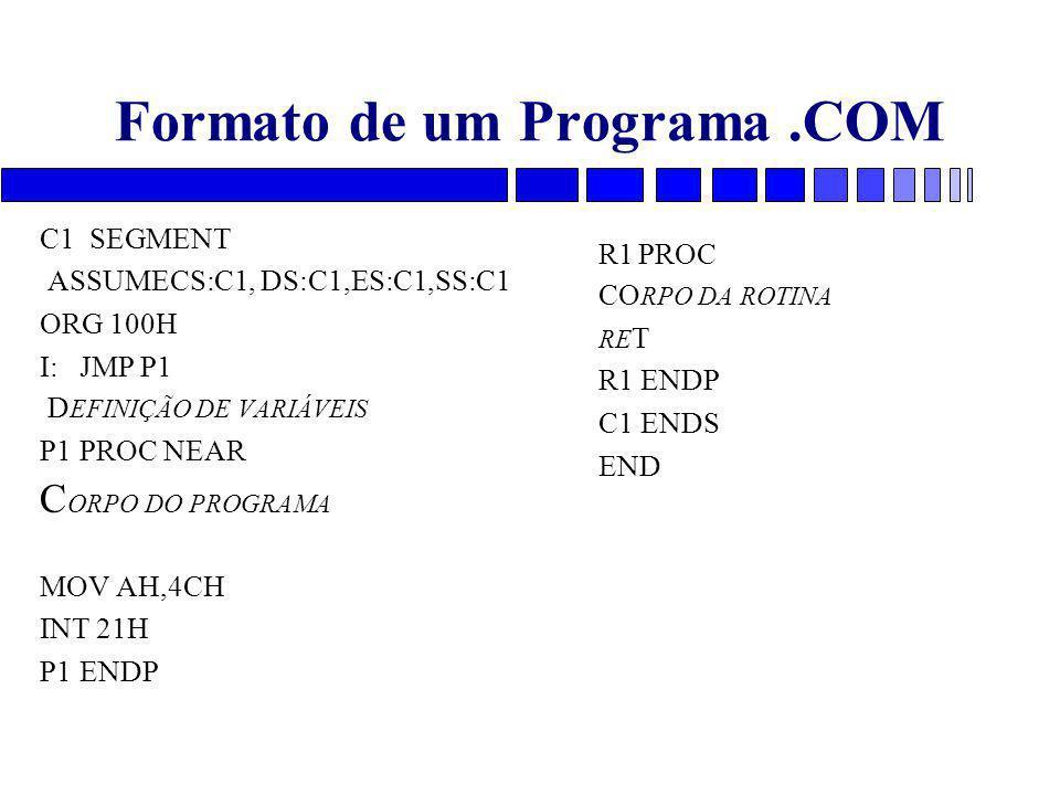 Formato de um Programa .COM