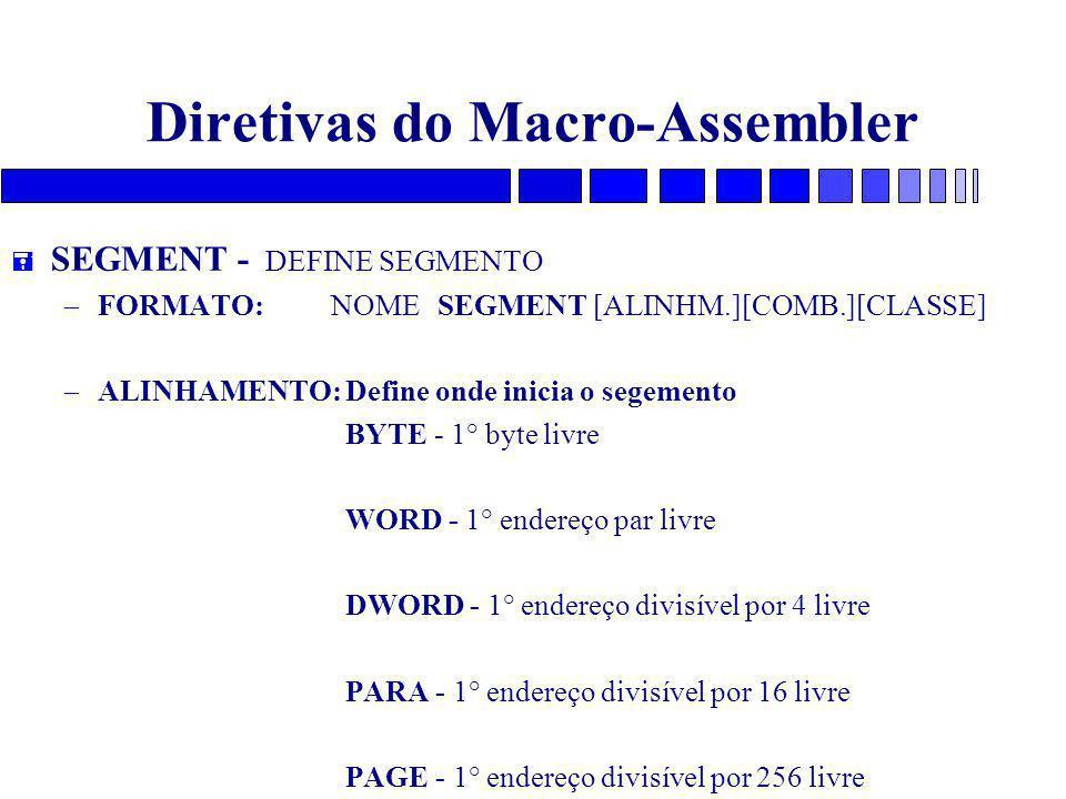 Diretivas do Macro-Assembler